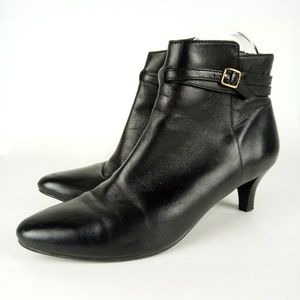 """Cole Haan Booties Size 6.5 Soft Leather 2"""" Heel"""